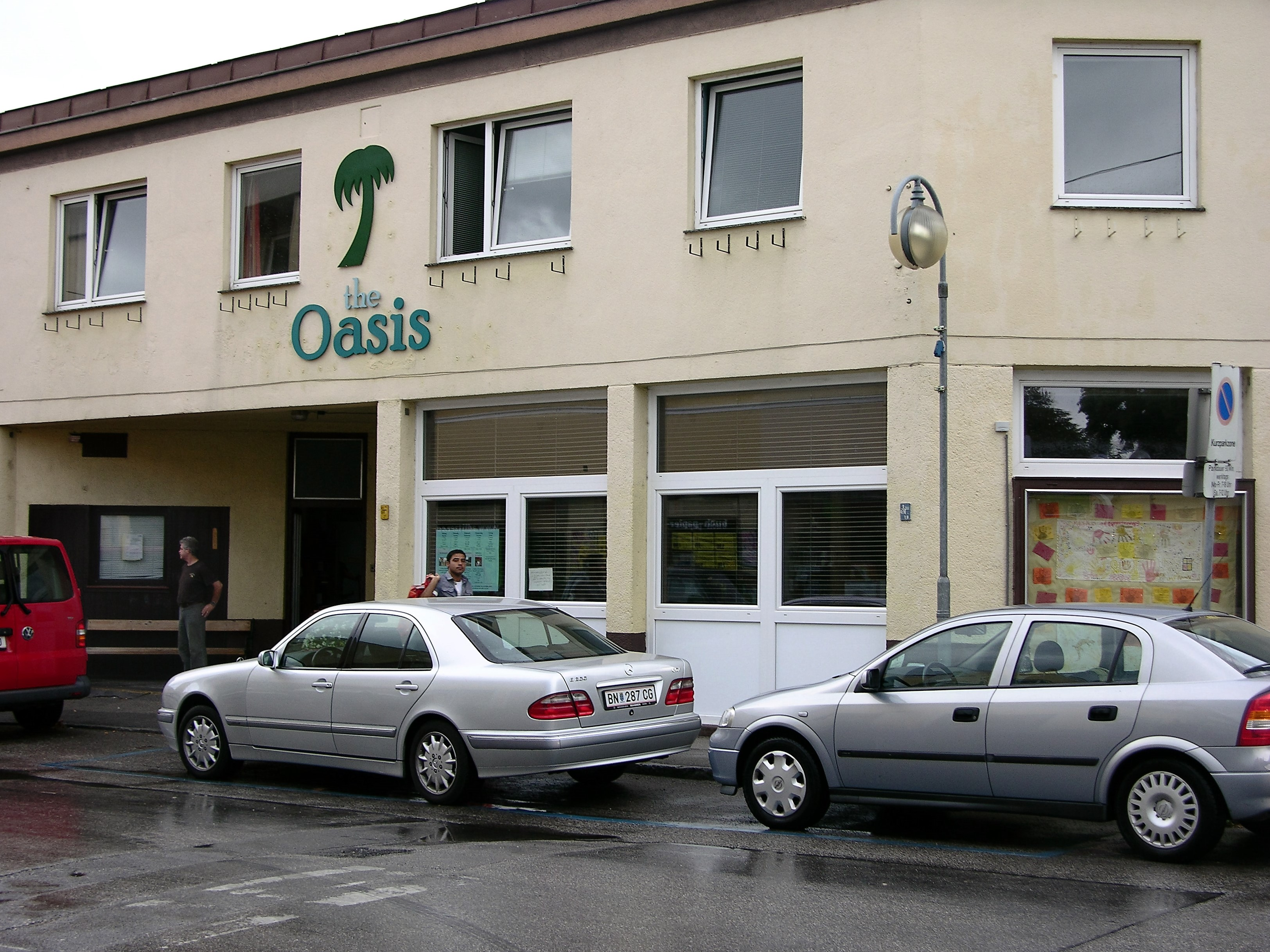 Oasis refugee center from outside
