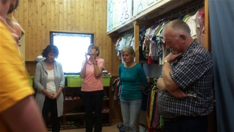 Praying in Oasis clothing room