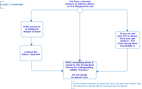 Flowchart of safeguarding stage 1: everyone