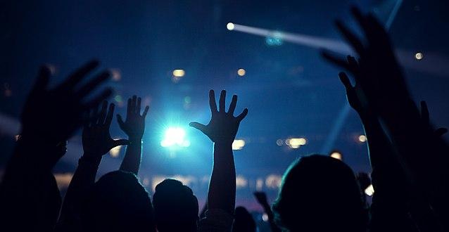 Hands raised in worship