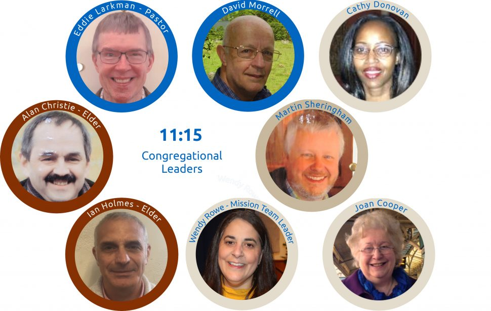 The 11:15 service is lead by Eddie, David, Cathy D, Alan C, Martin S, Ian H, Wendy R and Joan