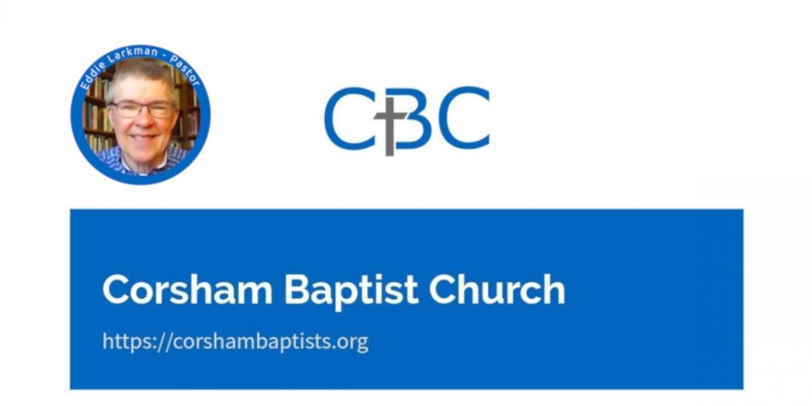Eddie Larkman, pastor photo with CBC logo