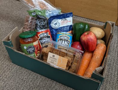 Box of food prepared for a client