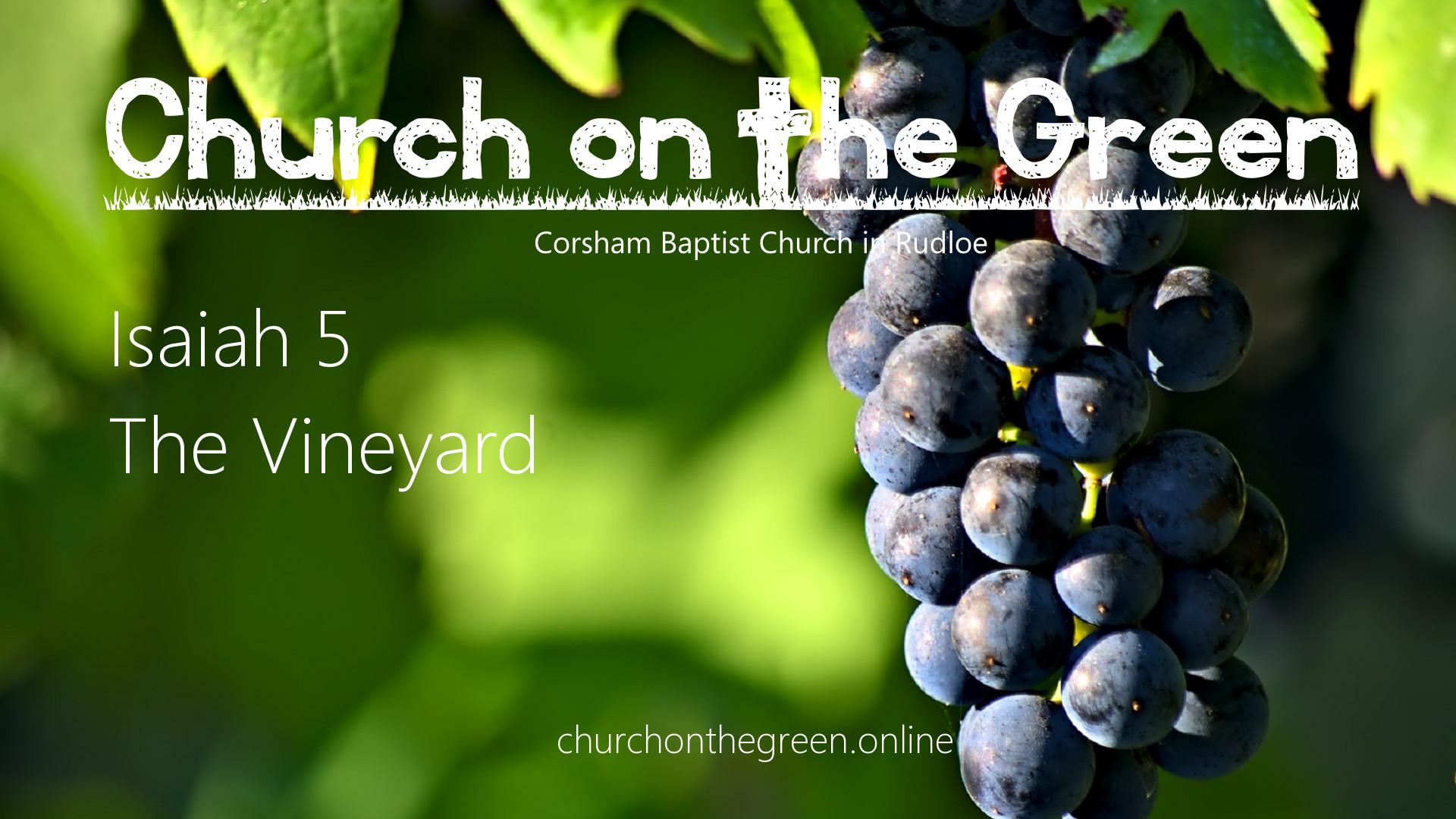 Isaiah 5: The Vineyard